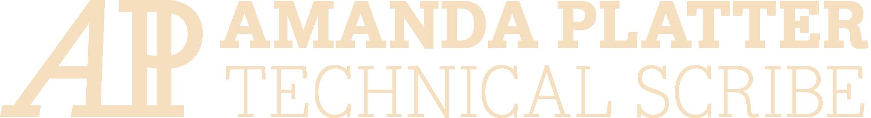 Amanda Platter: Technical Scribe