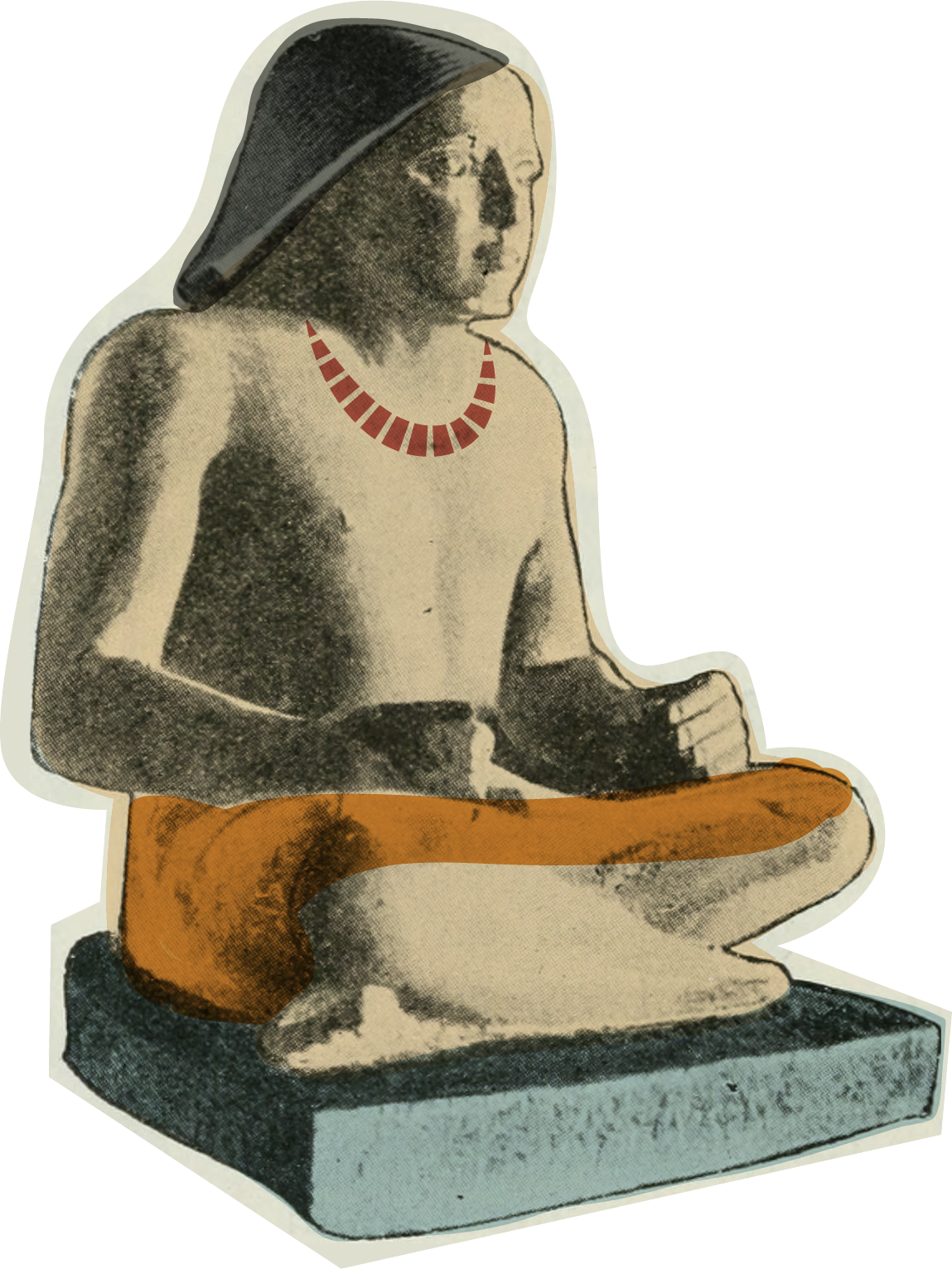 Egyptian scribe sculpture